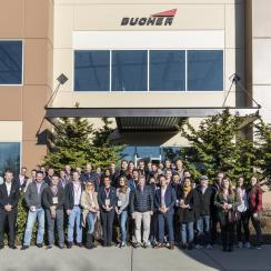 The visit at Bucher Aerospace in Everett.