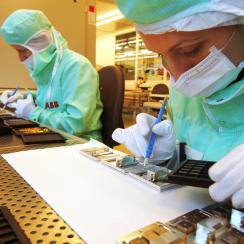 ABB's center for the highly sophisticated production of power semiconductors © ABB