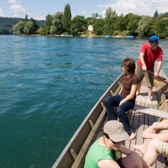 A boat trip on the Rhine how to relax Schaffhausen style