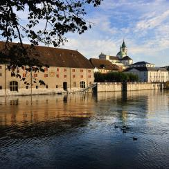 City of Solothurn on the shores of the Aare River