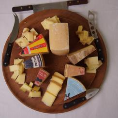 Traditional Swiss cheese platter