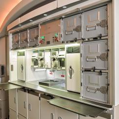 The galley by Bucher Aerospace In the brand new addition to the fleet.