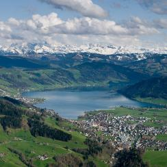 Unteraegeri with its lake, Canton of Zug