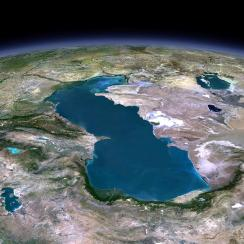 View on Turkmenistan from above