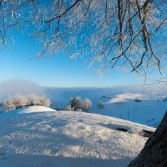 Winterlandscape in the hills of Menzingen, Canton of Zug