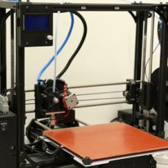 The 3D-Printer produces objects which help the robot to learn how to handle them.