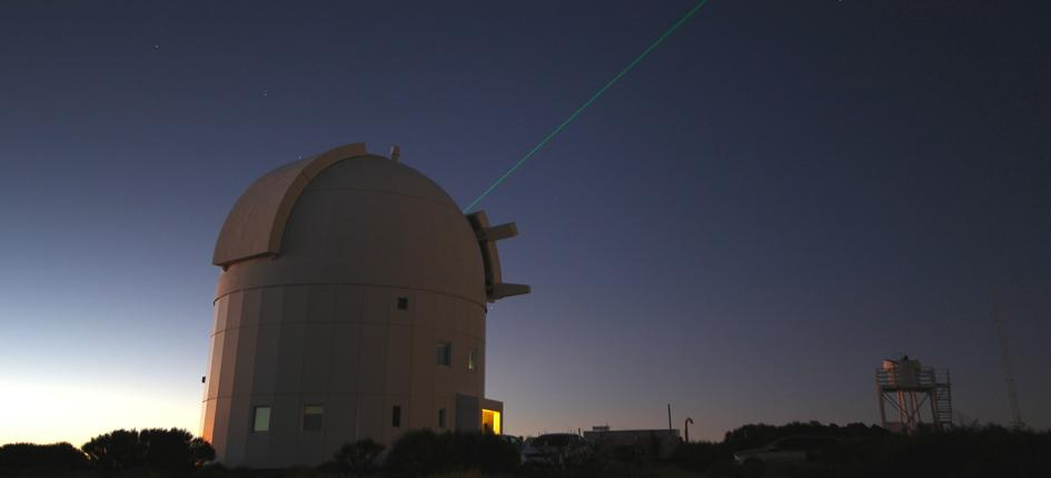 Lasers are used at ESA, for example, by optical ground stations. Image: Flickr/ Victor R. Ruiz