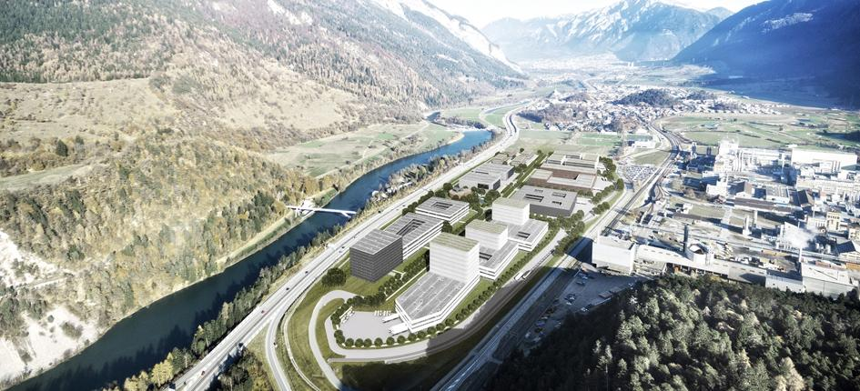 Visualization Industrial Park Vial Domat/Ems.