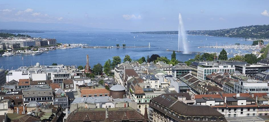 City of Geneva and Jet d'Eau