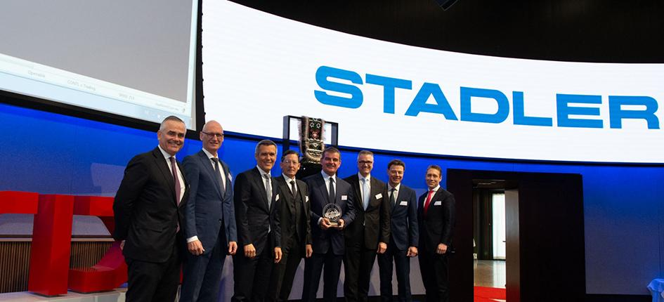 Stadler Rail made a successful start on the SIX stock exchange. Image Credit: SIX group