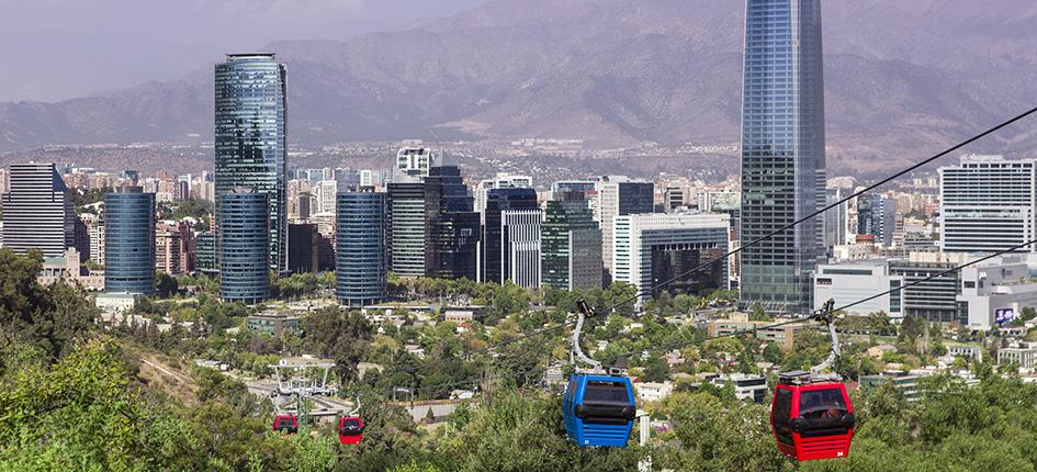 Cable car in Santiago de Chile