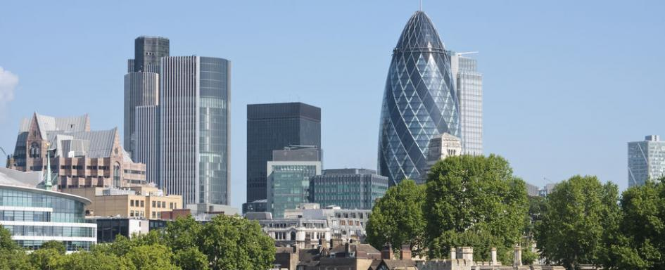 Eyes on London's financial district.