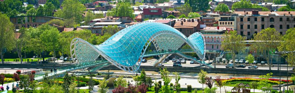Peace Bridge, Tiflis, Georgien