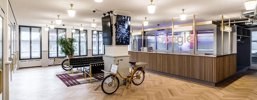 Google opens its new offices in Zurich.