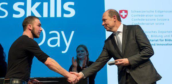 Young professionals honored at the SwissSkills Day 2017.