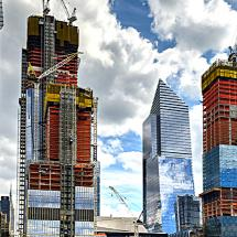 New York: new buildings under construction