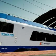 Flirt train produced by Stadler Rail for Polish Railway Operator PKP