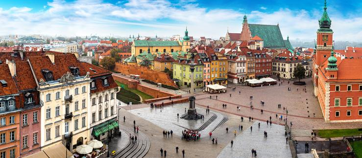 Warsaw as one of the economic centers in Poland