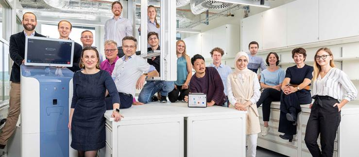 The team of Artidis, a spin-off from the University of Basel.