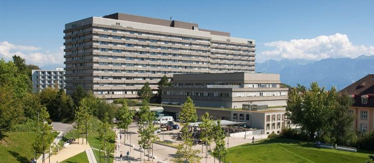 CHUV building in Lausanne