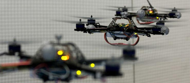 The ETH institutions are particularly strong in the areas of drones. Image Credit: ETH Zürich/Raffaello D'Andrea