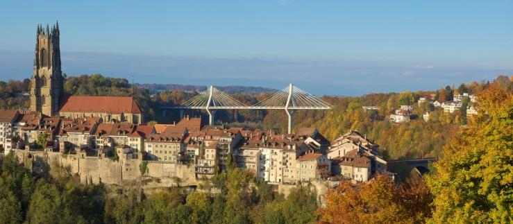 Fribourg and Poya bridge