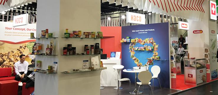 HACO als Teil vom Swiss Pavillion an der Food-Messe Anuga