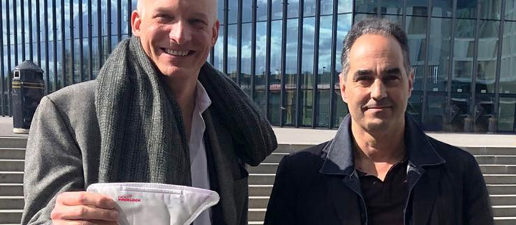 CEO HeiQ Carlo Centonze and Thierry Pelet, a member of HeiQ's Scientific Advisory Board.
