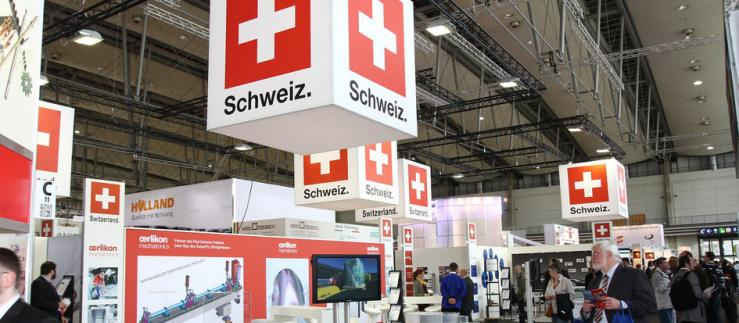 A Swiss trade fair stand in Germany.