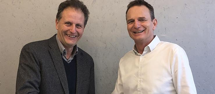 Michael Hennig, CEO of leadXpro and Benno Rechsteiner, CEO of PARK INNOVAARE.