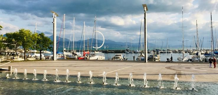 Ouchy port in Lausanne