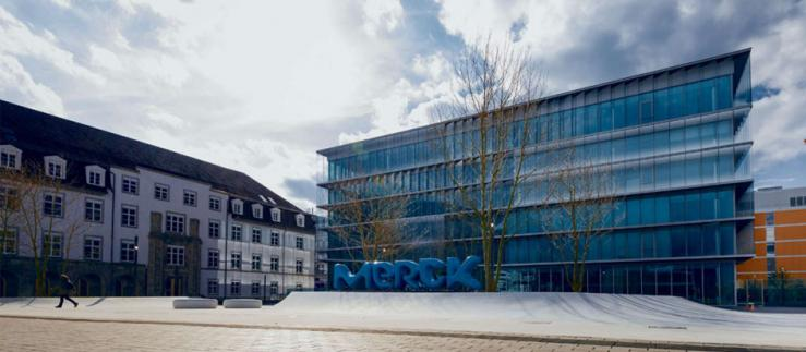 Merck Innovation Center at the headquarters campus in Darmstadt, Germany.