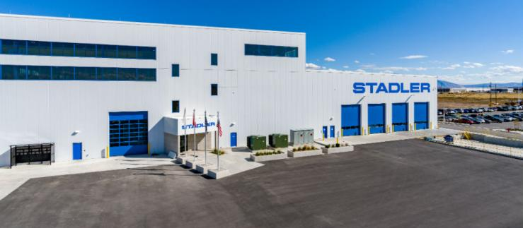 The Stadler plant in Salt Lake City Utah, where Stadler has now been manufacturing trains for the North American market for a year.