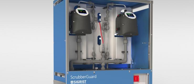 The ScrubberGuard monitors the scrubber wash water of exhaust gas cleaning systems.