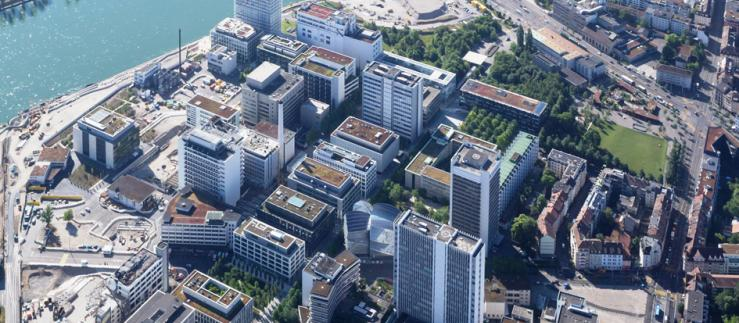 Aerial View of the Basel Campus, Novartis HQ