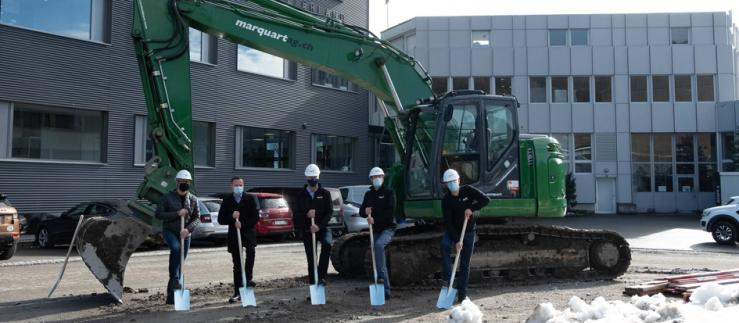 Groundbreaking ceremony for the Lean Factory.
