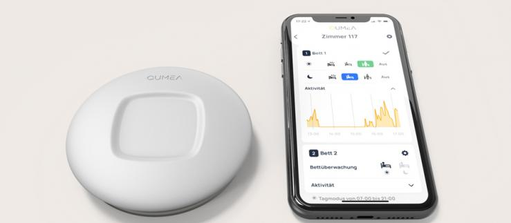 QUMEA sensor technology can detect critical conditions in people in need of care in real time.