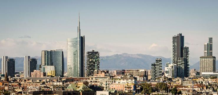 Skyline of Milan, Italy