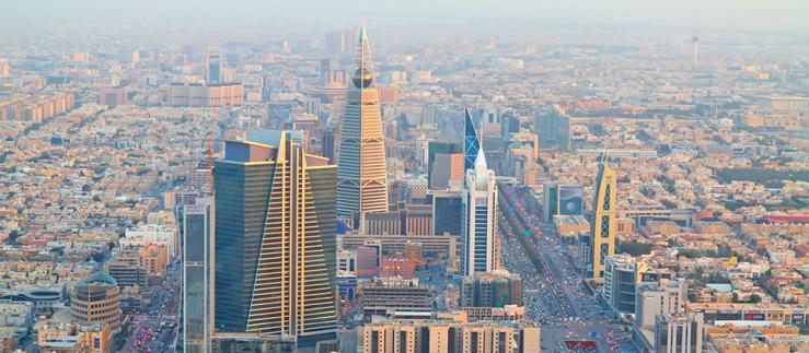 Aerial view of Riyadh (Saudi Arabia) downtown