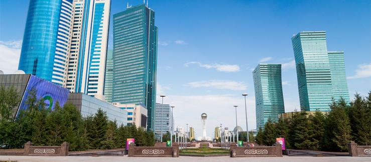 High-rise buildings in Astana