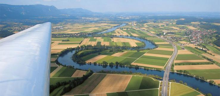 Arial view of canton Solothurn