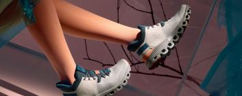 The Cloud Hi Edge model combines patented running technology with a higher profile. Image credit: On