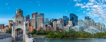 Panoramic view of Calgary's skyline