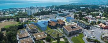 Aerial view of the Biopôle campus.