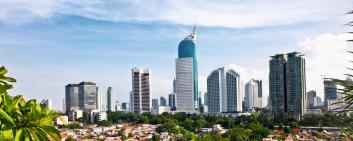 Indonesia's capital Jakarta has 9 million inhabitants