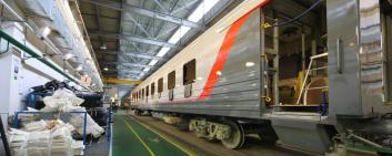 A train in a revision hall.