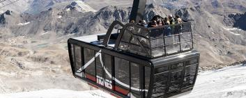 Inauguration in Tignes of the world's largest and highest open-top aerial tramwa. Image Credit: PRNewsfoto/STGM