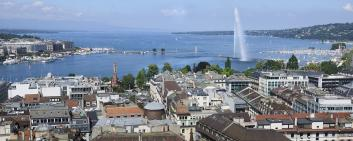 Lake Geneva and Jet d'Eau
