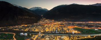 Visp in the canton of Valais