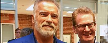 Arnold and Christian Schwarzenegger are forging a new alliance for sustainability in finance. Image Credit: UZH
